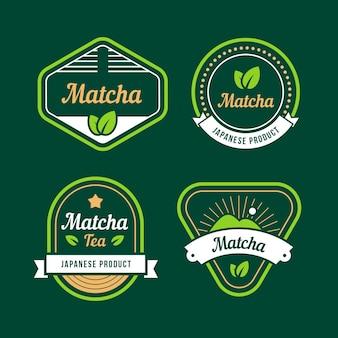 Emblemas de chá matcha