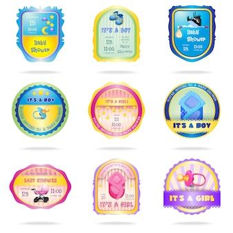 Emblemas de chuveiro de bebê