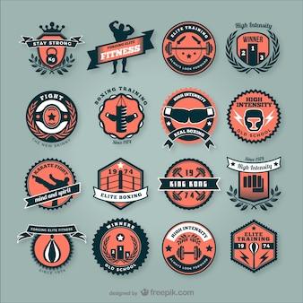 Emblemas de clubes de fitness