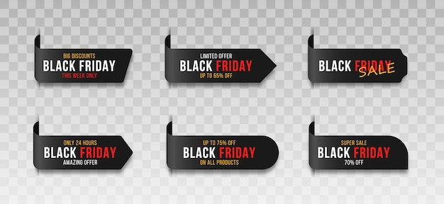 Emblemas de etiquetas para etiquetas de venda de mercado de sexta-feira preta etiqueta de sinal de venda