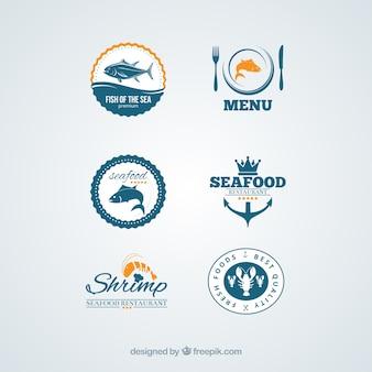 Emblemas de frutos do mar