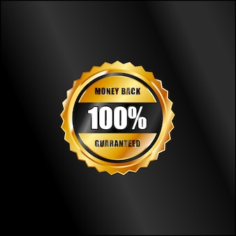 Emblemas de garantia de ouro