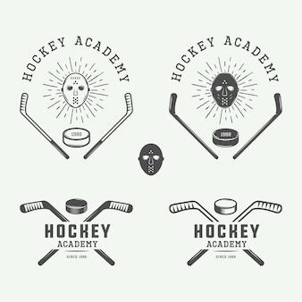 Emblemas de hóquei, logotipos, emblemas
