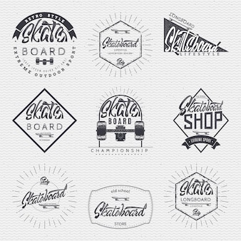 Emblemas de insígnia de skate