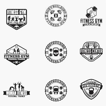 Emblemas de logotipo de aptidão