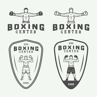 Emblemas de logotipo de boxe