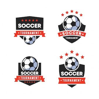 Emblemas de logotipo de futebol