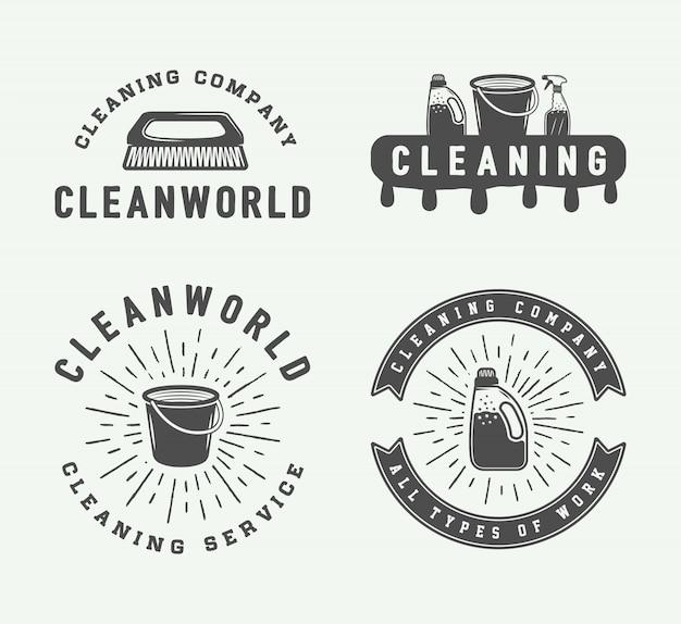 Emblemas de logotipo de limpeza