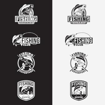 Emblemas de logotipo de pesca