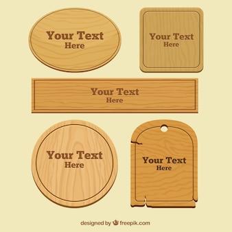 Emblemas de madeira embalar