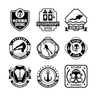 Emblemas de mergulho