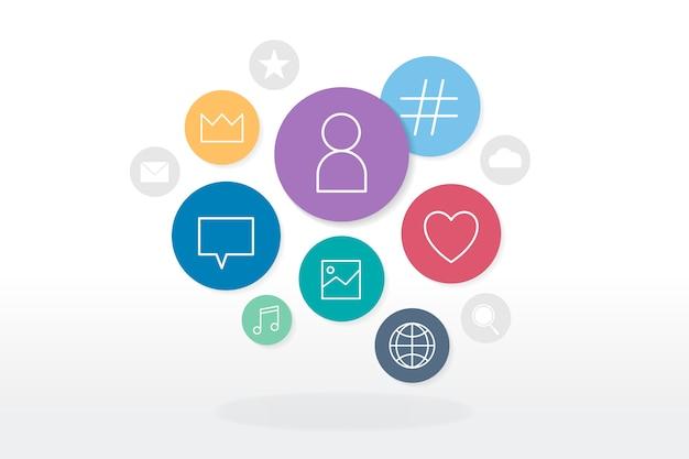 Emblemas de mídia social