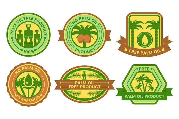 Emblemas de óleo de palma plana