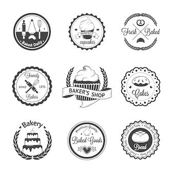 Emblemas de padaria vintage