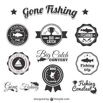 Emblemas de pesca embalar