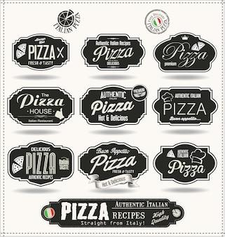Emblemas de pizza