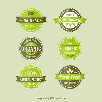 Emblemas de produtos naturais