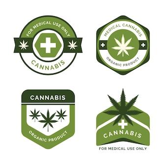 Emblemas de produtos orgânicos de cannabis medicinal
