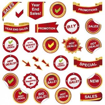 Emblemas de promoção