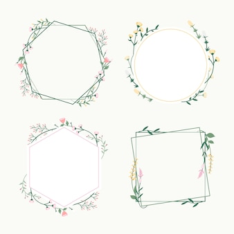 Emblemas de quadro floral