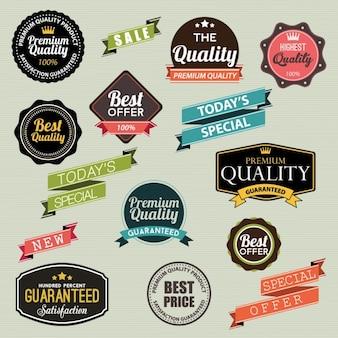 Emblemas de qualidade premium vintage