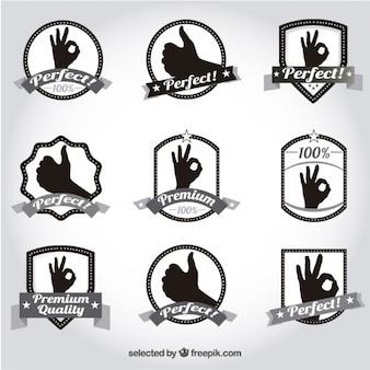Emblemas de qualidade premium