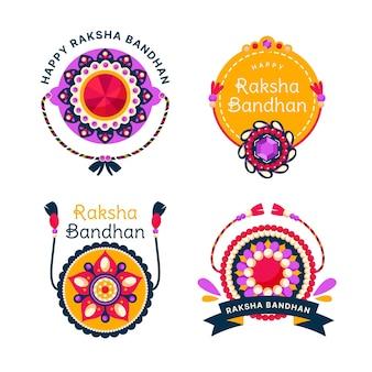 Emblemas de raksha bandhan plana