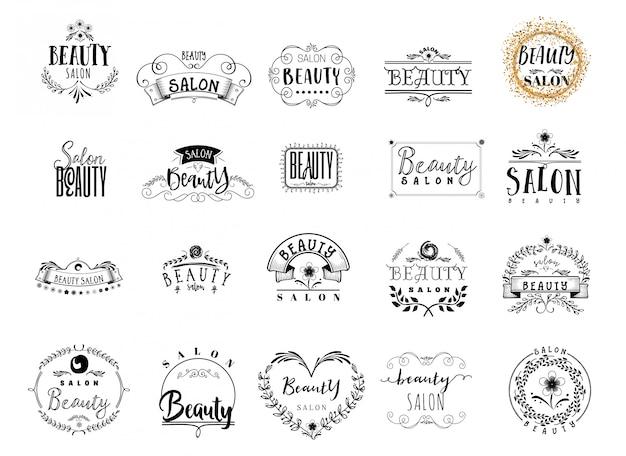 Emblemas de salão de beleza