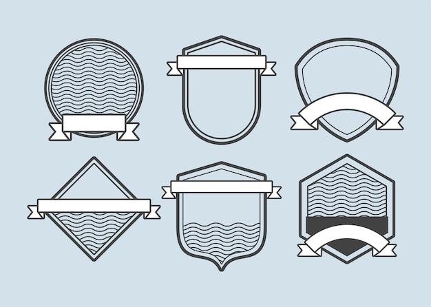Emblemas de seis molduras