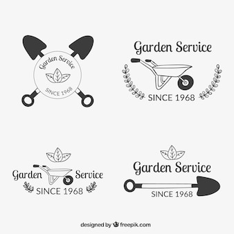 Emblemas de serviços jardim