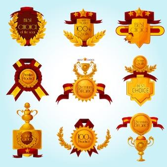 Emblemas de venda de prêmio