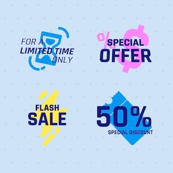 Emblemas de venda de tecnologia cyber monday