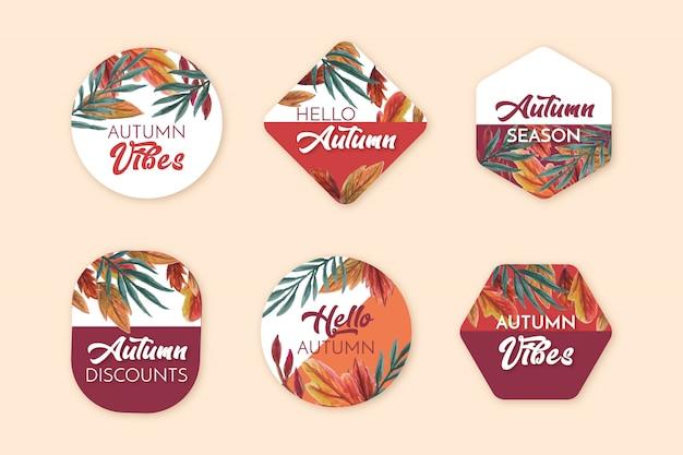 Emblemas de venda outono