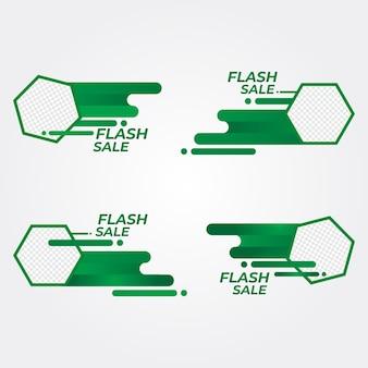 Emblemas de venda relâmpago emblemas de promoção de coleção