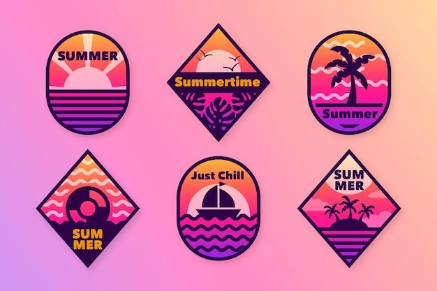 Emblemas de verão design plano