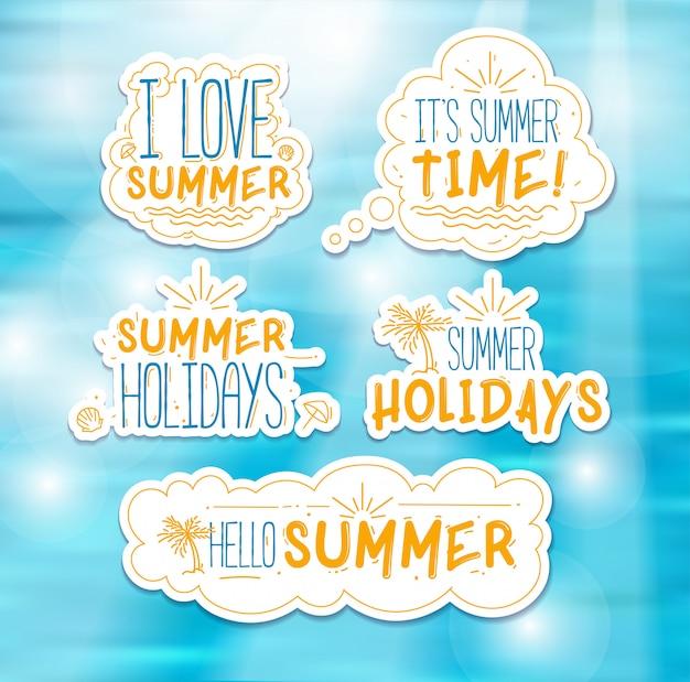 Emblemas de verão vetor