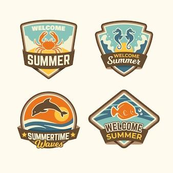 Emblemas de verão vintage