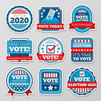 Emblemas de votação e adesivos