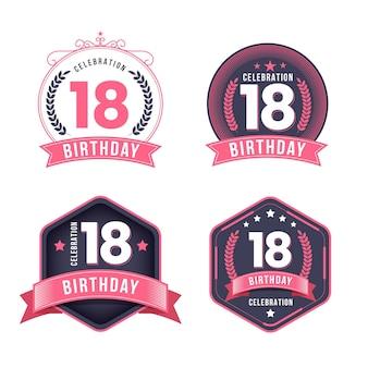Emblemas do 18º aniversário