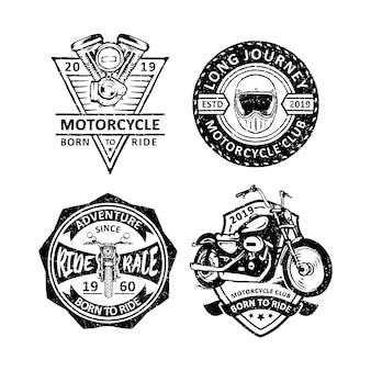 Emblemas do clube de motocicletas vintage