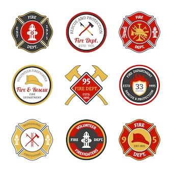 Emblemas do departamento de bombeiros