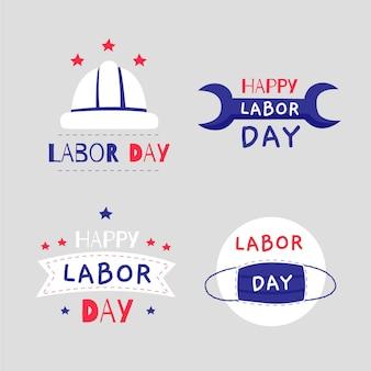 Emblemas do dia do trabalho nos eua
