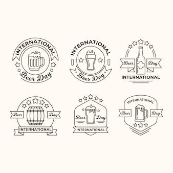 Emblemas do dia internacional da cerveja
