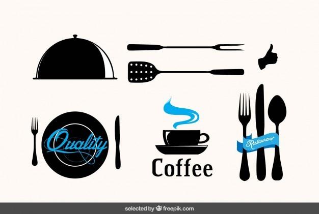 Emblemas do restaurante