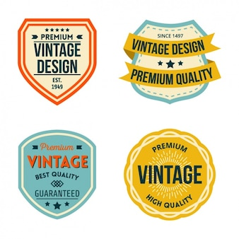 Emblemas do vintage ajustados