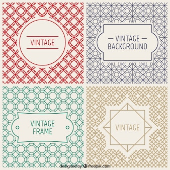 Emblemas do vintage e fundos decorativos