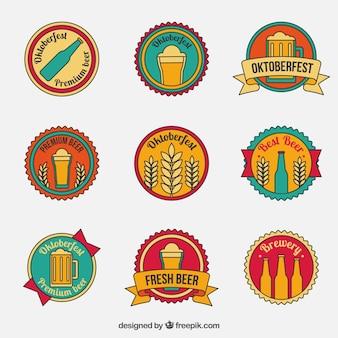 Emblemas do vintage para oktoberfest
