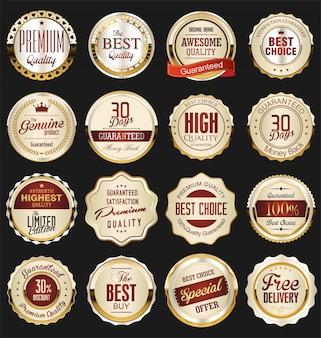 Emblemas dourados premium de luxo