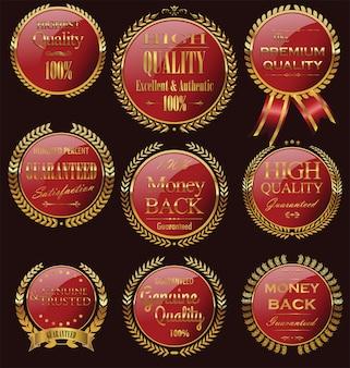 Emblemas dourados