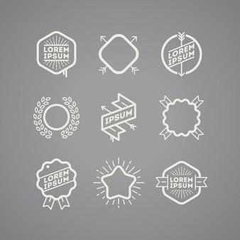 Emblemas e etiquetas - conjunto.